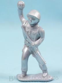 1. Brinquedos antigos - Balila - Soldado atirando granada 8,00 cm de altura Plástico alumínio Década de 1960
