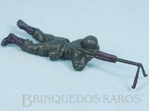 Brinquedos Antigos - Casablanca e Gulliver - Soldado com metralhadora Uniforme Alemão da Segunda Guerra Mundial Década de 1970 RESERVED***RA***