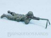 Brinquedos Antigos - Casablanca e Gulliver - Soldado com metralhadora Uniforme Brasileiro da Segunda Guerra Mundial Década de 1970
