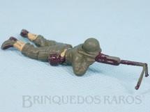 Brinquedos Antigos - Casablanca e Gulliver - Soldado com metralhadora Uniforme Americano da Segunda Guerra Mundial Década de 1970 RESERVED***RA***