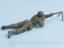 Brinquedos Antigos - Casablanca e Gulliver - Soldado com metralhadora Uniforme Americano da Segunda Guerra Mundial Década de 1970