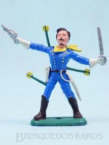 Brinquedos Antigos - Casablanca e Gulliver - Soldado da 7� Cavalaria a p� com sabre e revolver Ano 1986