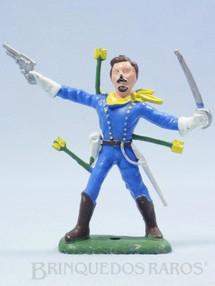 1. Brinquedos antigos - Casablanca e Gulliver - Soldado da Sétima Cavalaria a pé com sabre e revolver Ano 1986
