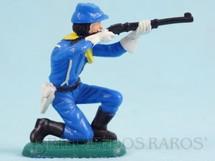 Brinquedos Antigos - Casablanca e Gulliver - Soldado da 7� Cavalaria ajoelhado atirando com rifle Ano 1986