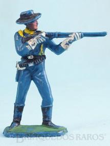 Brinquedos Antigos - Casablanca e Gulliver - Soldado da 7� Cavalaria de p� atirando com rifle
