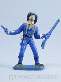 Brinquedos Antigos - Casablanca e Gulliver - Soldado da Sétima Cavalaria de pé com rifle e revolver