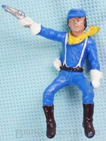 1. Brinquedos antigos - Casablanca e Gulliver - Soldado da Sétima Cavalaria montado a cavalo atirando com revolver Ano 1986