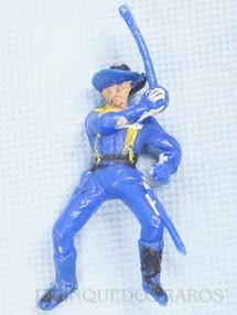 Brinquedos Antigos - Casablanca e Gulliver - Soldado da 7ª Cavalaria montado a cavalo com sabre