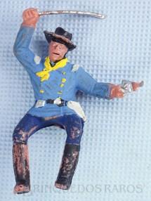 Brinquedos Antigos - Casablanca e Gulliver - Soldado da 7� Cavalaria montado a cavalo com sabre e revolver