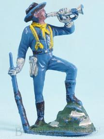 Brinquedos Antigos - Casablanca e Gulliver - Soldado da 7� Cavalaria tocando corneta