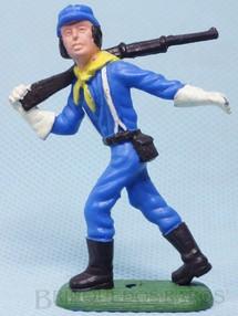 1. Brinquedos antigos - Casablanca e Gulliver - Soldado da Sétima Cavalaria marchando com Rifle Ano 1986