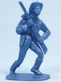 Brinquedos Antigos - Casablanca e Gulliver - Soldado da Sétima Cavalaria marchando com rifle Plástico azul Década de 1970