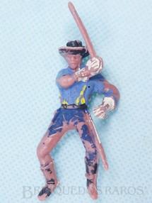 Brinquedos Antigos - Casablanca e Gulliver - Soldado da Sétima Cavalaria montado a cavalo com sabre RESERVED***RA***