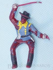Brinquedos Antigos - Casablanca e Gulliver - Soldado da Sétima Cavalaria montado a cavalo com sabre e revolver de plástico vermelho pintado RESERVED***RA***