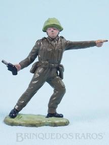 Brinquedos Antigos - Britains - Soldado inglês Comandante avançando Figura Matriz de soldado do Brinde Toddy Década de 1960