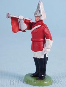 Brinquedos Antigos - Britains - Soldado Lifeguard a pé com Clarim Década de 1970