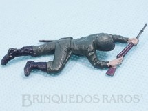 Brinquedos Antigos - Casablanca e Gulliver - Soldado rastejando com fuzil Uniforme Brasileiro da Segunda Guerra Mundial Década de 1970 RESERVED***RA***