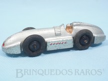 1. Brinquedos antigos - Dinky Toys - Speed of the Wind Racing Car prateado Ano 1936 a 1940