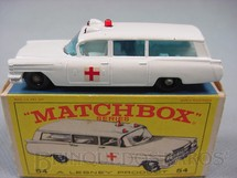 1. Brinquedos antigos - Matchbox - S+S Cadillac Ambulance black plastic Regular Wheels