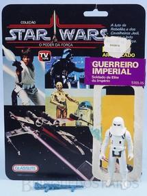 Brinquedos Antigos - Glasslite - Stormtrooper Guerreiro Imperial Star Wars Lucas Film perfeito estado completo com Arma acompanha Cartela original Década de 1980