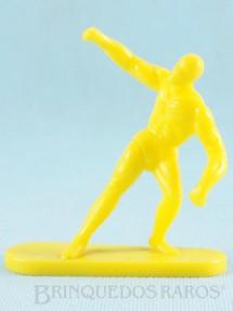 1. Brinquedos antigos - Casablanca e Gulliver - Surfista Prateado de plástico amarelo Década de 1980