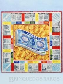 1. Brinquedos antigos - Coluna - Tabuleiro do Jogo Milhões em Jogo versão do Banco Imobiliário Década de 1960