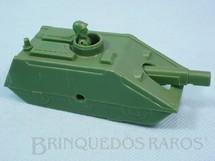 1. Brinquedos antigos - Balila - Tanque de Guerra com 12,00 cm de comprimento verde médio Década de 1970
