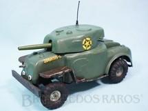 1. Brinquedos antigos - Tri Ang Minic - Tanque de guerra com rodas 20,00 cm de comprimento Minic Década de 1950