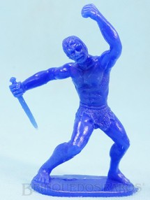 Brinquedos Antigos - Casablanca e Gulliver - Tarzan de pl�stico azul d�cada de 1980