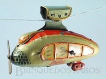 1. Brinquedos antigos - Sem identificação - Teleférico Futurista com 12,00 cm de comprimento Move a hélice e se movimenta através de um cabo Década de 1930