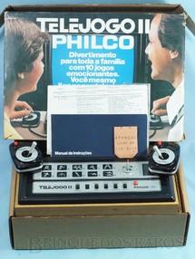 1. Brinquedos antigos - Philco - Telejogo II Philco Ford Perfeito estado de funcionamento e conservação Completo com Caixa e Sobre Caixa originais e Manual de Instruções Ano 1978