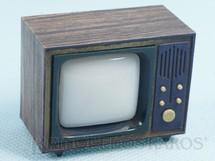 1. Brinquedos antigos - Sem identificação - Televisão com Visor na parte de trás apresenta paisagens de Brasília que se alternam 4,5 cm de altura Década de 1970