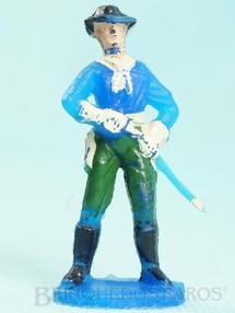 1. Brinquedos antigos - Casablanca e Gulliver - Tenente Rip Masters da Sétima Cavalaria desembainhando o sabre Versão com calça pintada de verde Casablanca numerado 11