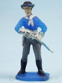 Brinquedos Antigos - Casablanca e Gulliver - Tenente Rip Masters da Sétima Cavalaria desembainhando o sabre Casablanca numerado 11
