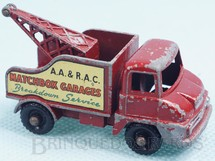Brinquedos Antigos - Matchbox - Thames Trade Wreck Truck Matchbox Garages black plastic Regular Wheels