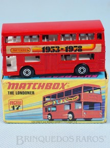 1. Brinquedos antigos - Matchbox - The Londoner Superfast Matchbox 1953-1978