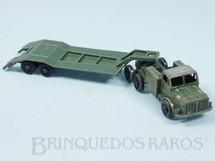 Brinquedos Antigos - Matchbox - Thornycroft Antar and Sankey 50 Ton Tank Transporter Série Major packs Black Plastic Regular Wheels