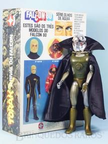 Brinquedos Antigos - Estrela - Torak o Rival do Falcon perfeito estado todo original Capa preta Acompanha Réplica da Caixa Original edição 1982