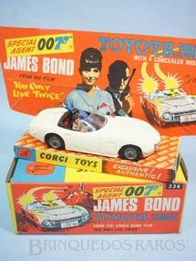 1. Brinquedos antigos - Corgi Toys - Toyota 2000GT conversível 007 James Bond Completo 100% original Década de 1970