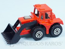 1. Brinquedos antigos - Matchbox - Tractor Shovel Superfast laranja