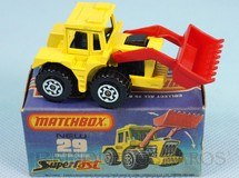 Brinquedos Antigos - Matchbox - Tractor Shovel Superfast motor preto