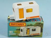 1. Brinquedos antigos - Matchbox - Trailer Caravan Superfast