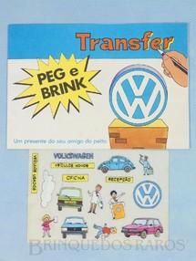 Brinquedos Antigos - Editora Abril  - Transfer Peg e Brink brinde da Rede Autorizada Volkswagen Década de 1970