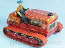 1. Brinquedos antigos - Modern Toys e Masudaya Toys - Trator de esteira com 20,00 cm de comprimento Década de 1950
