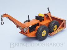 1. Brinquedos antigos - Lint Toys - Trator de rodas Tournadozer com guincho e pá Década de 1950