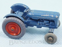 Brinquedos Antigos - Matchbox - Trator Fordson Tractor Grey Plastic Regular Wheels