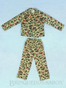 Brinquedos Antigos - Estrela - Uniforme Camuflado com blusa e calça Série 1977