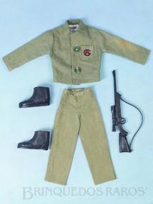 1. Brinquedos antigos - Estrela - Uniforme completo Combate com 4 Itens Edição 1978