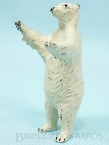 1. Brinquedos antigos - Britains - Urso branco de pé Zoo Série Década de 1950
