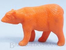 Brinquedos Antigos - Casablanca e Gulliver - Urso de plástico laranja Série Zoológico Década de 1970